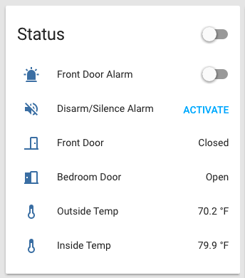 Home Assistant Sensor Card